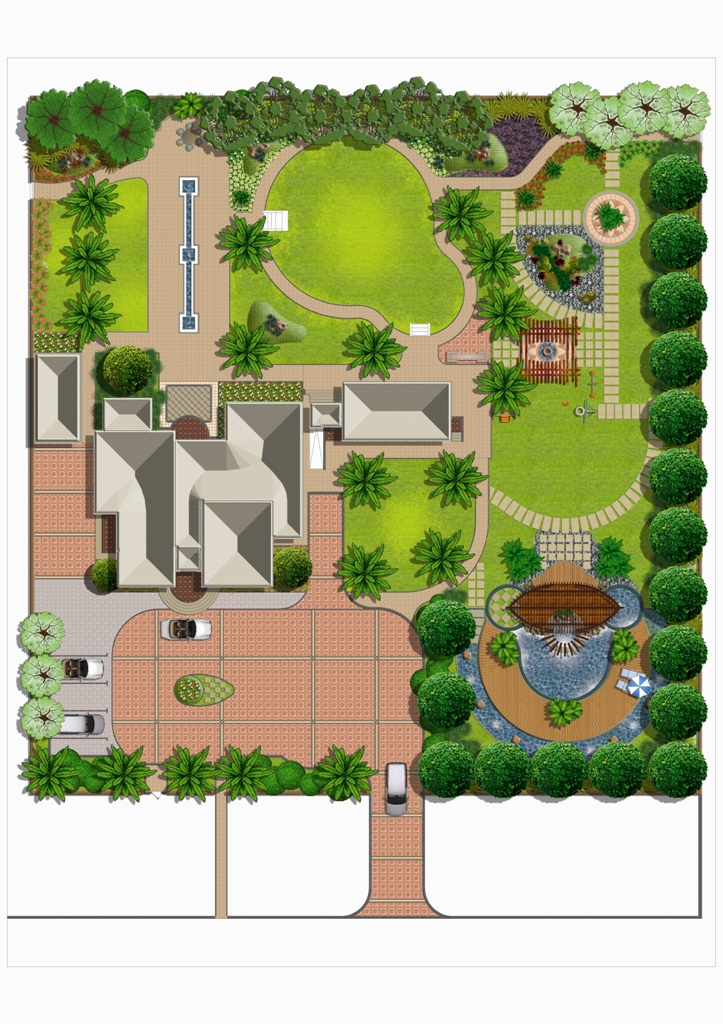 Landscaping by marcial flores at for Landscape villa design