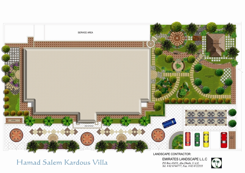 Landscaping by marcial flores at for Villa landscape plan
