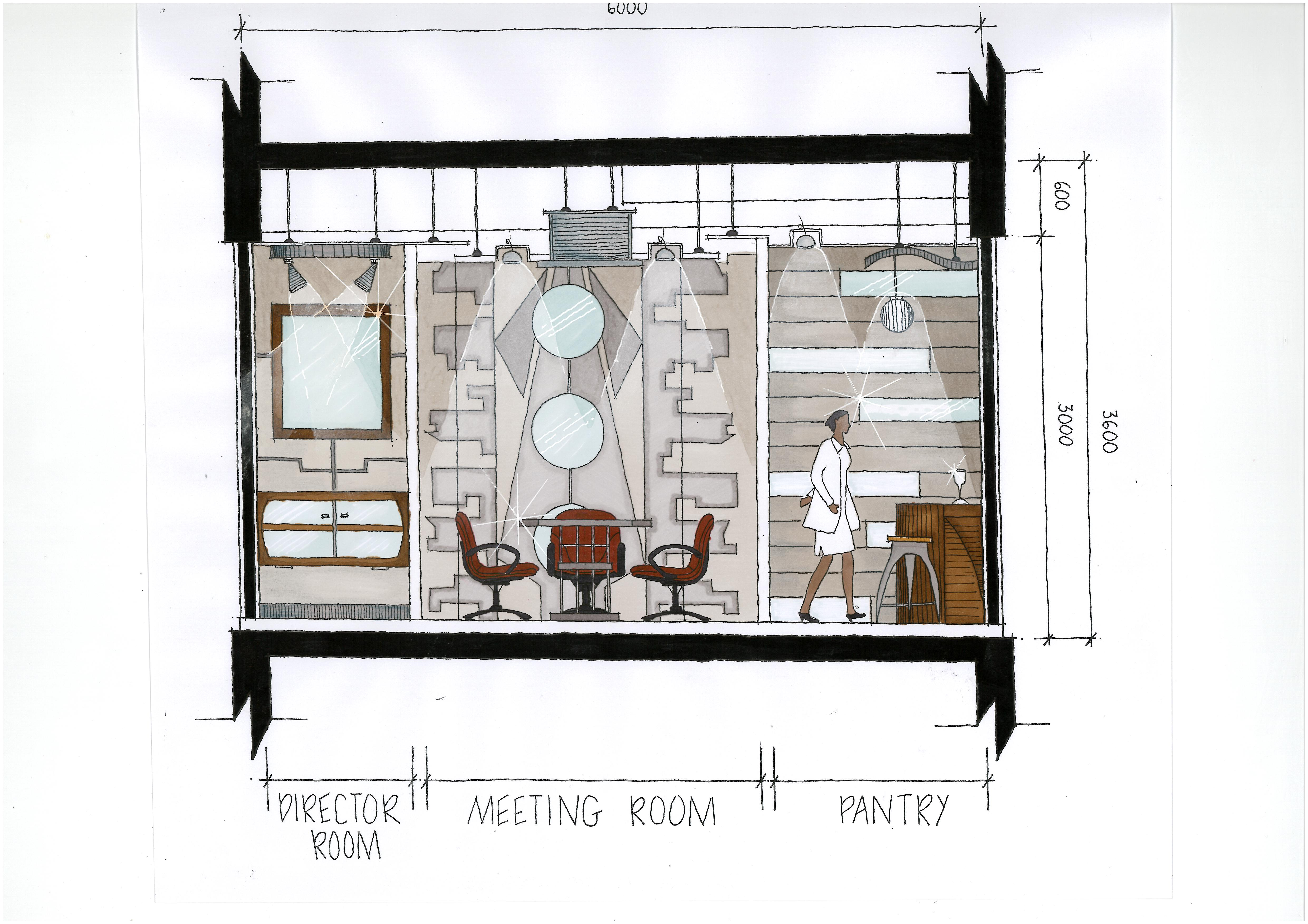Sometimes, as with the example shown, the interior elevations will be on a sheet with other things like the building section. It depends on the size and complexity of the home plans whether the interior elevations will have their own sheet or not.