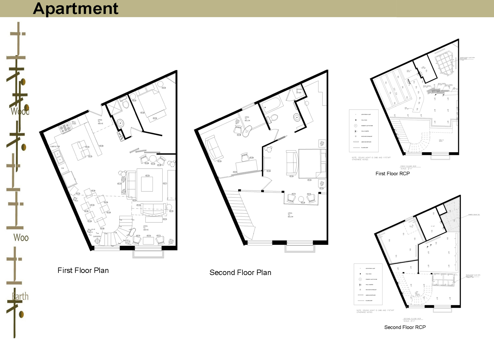 Three sample units in a mixed use building by kay he at for Sample building plans