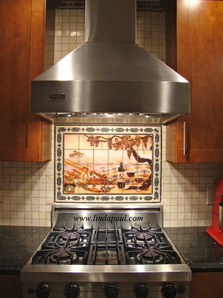 Kitchen Backsplash Art kitchen backsplash tile muralslinda paul studiolinda paul