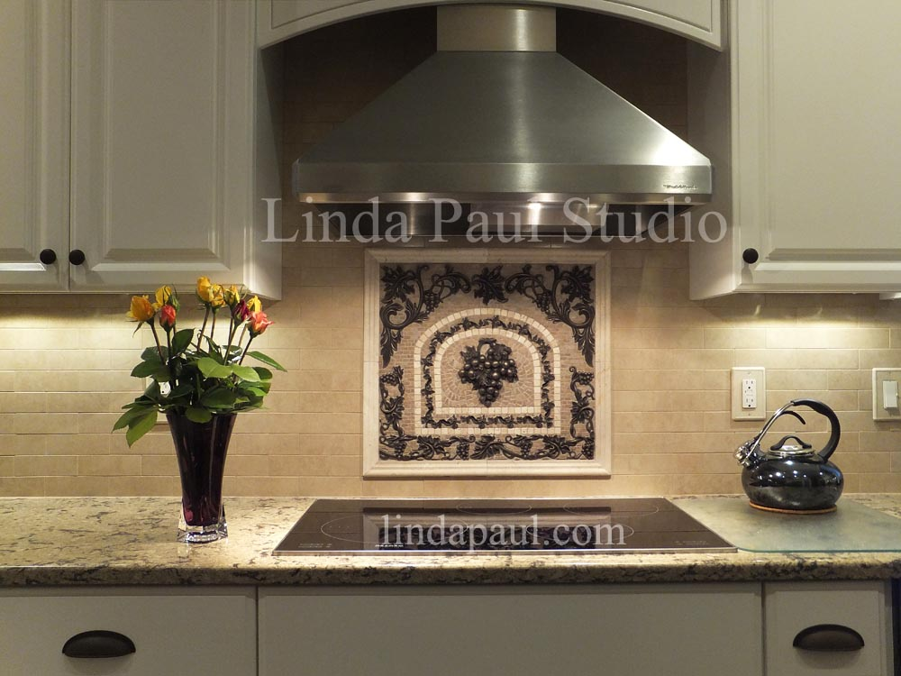 kitchen backsplash tile murals by linda paul studio by
