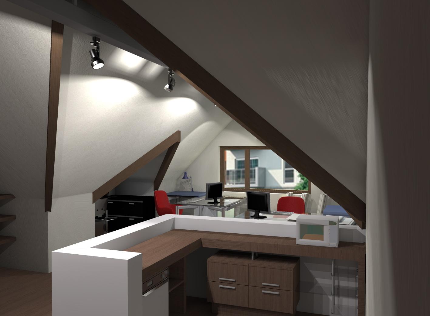 Mansarda birou design by anca manescu at
