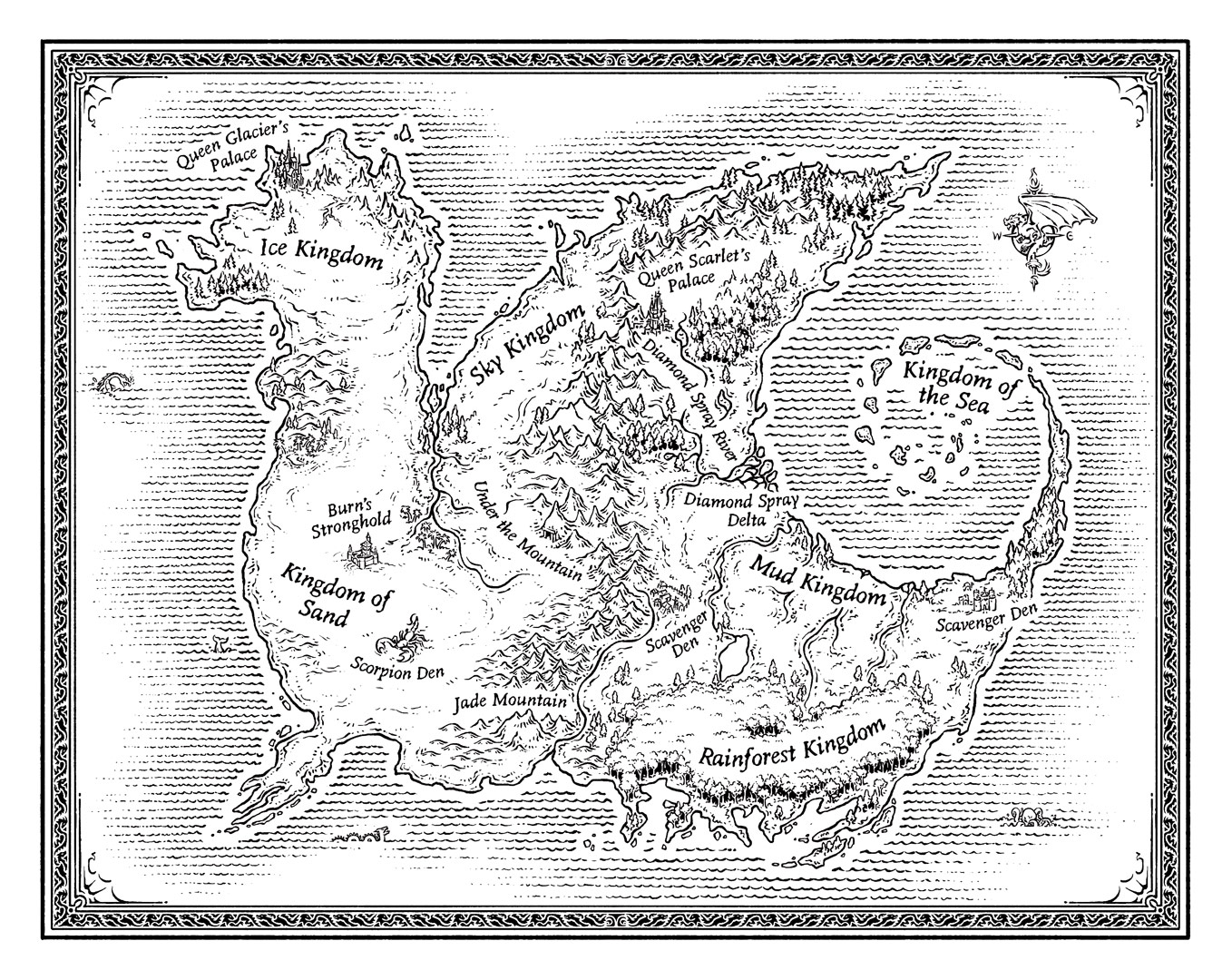 Modern Book Cover Map : Literary maps for young readers by mike schley at coroflot