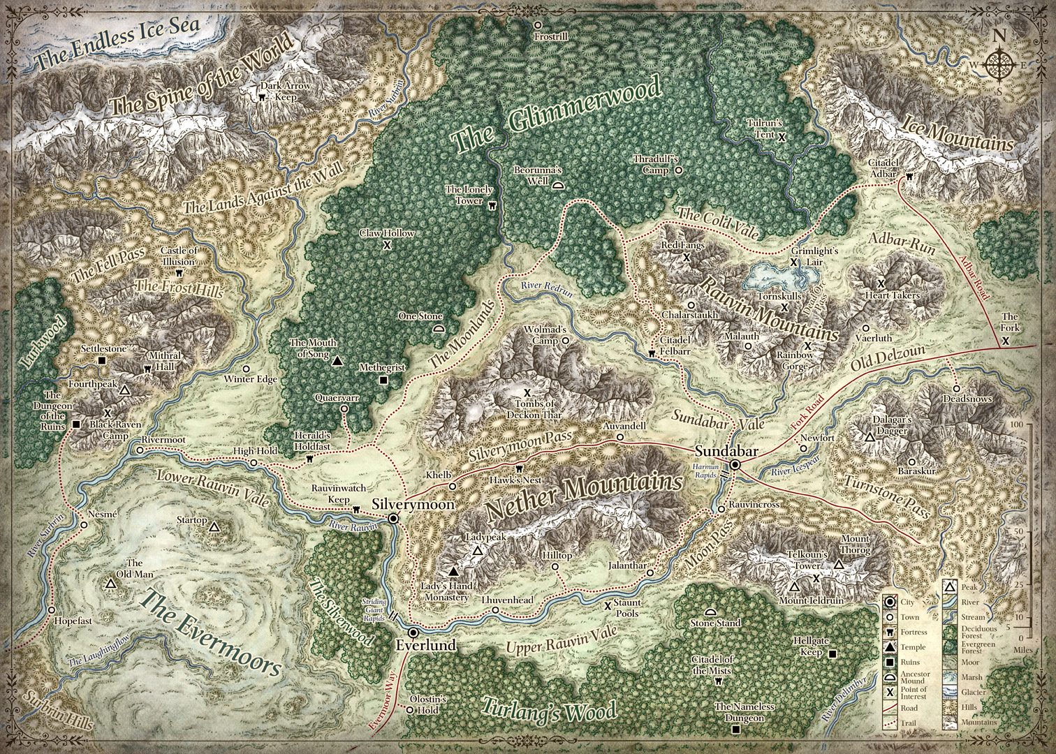 forgotten realms map