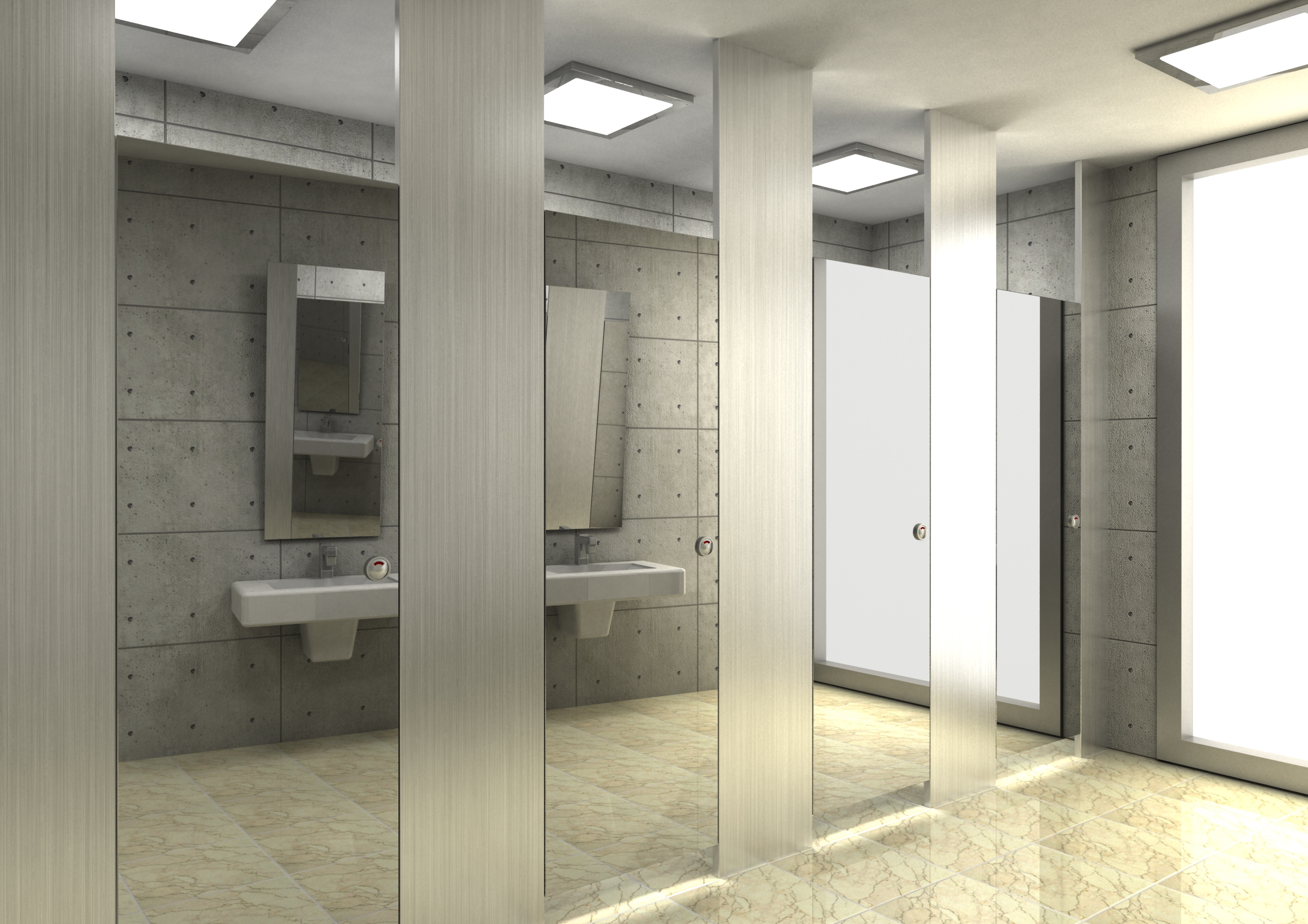 Computer rendering by hyeonil jeong at for New washroom designs