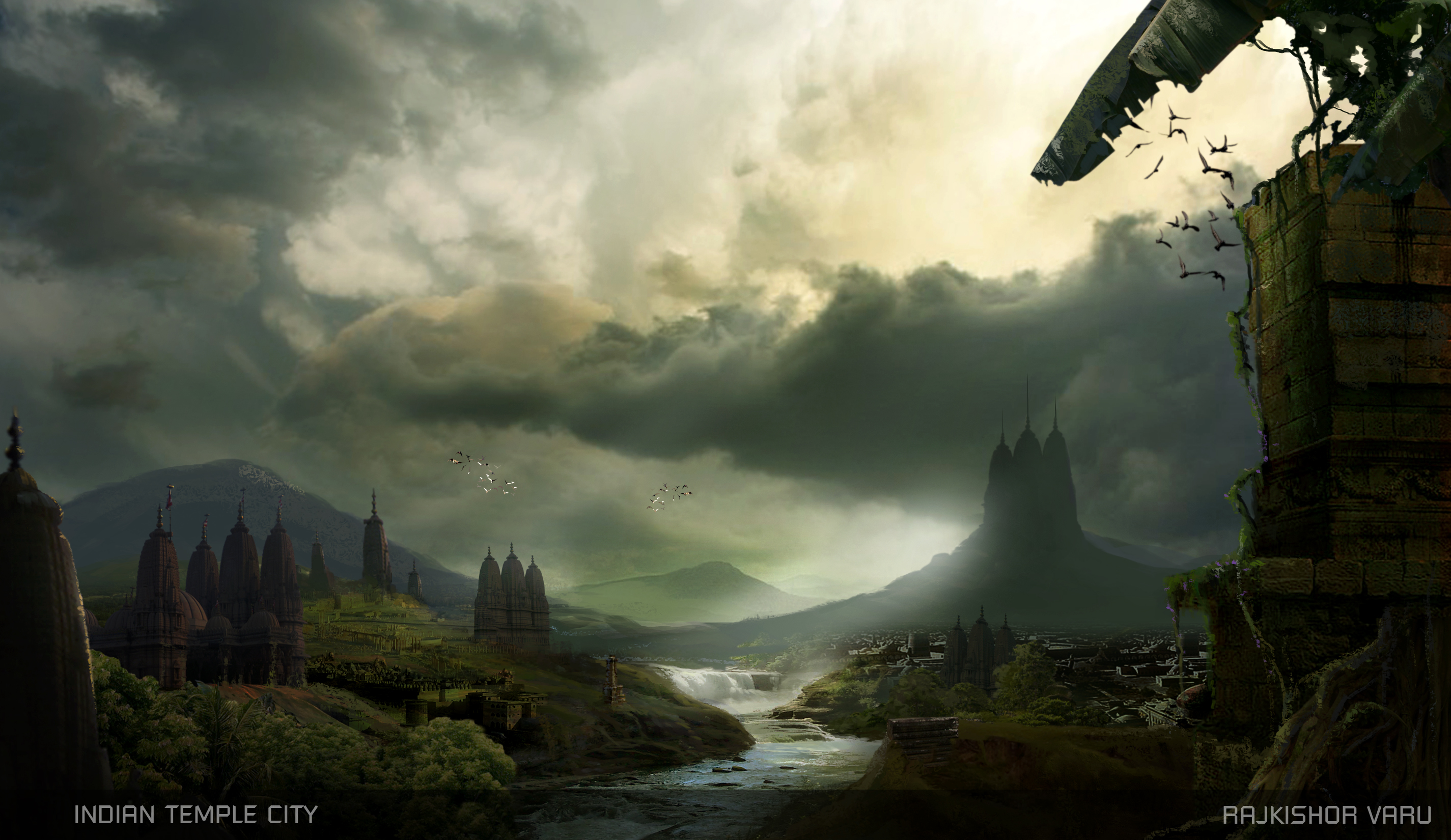 Concept matte by rajkishor varu at for Matte painting
