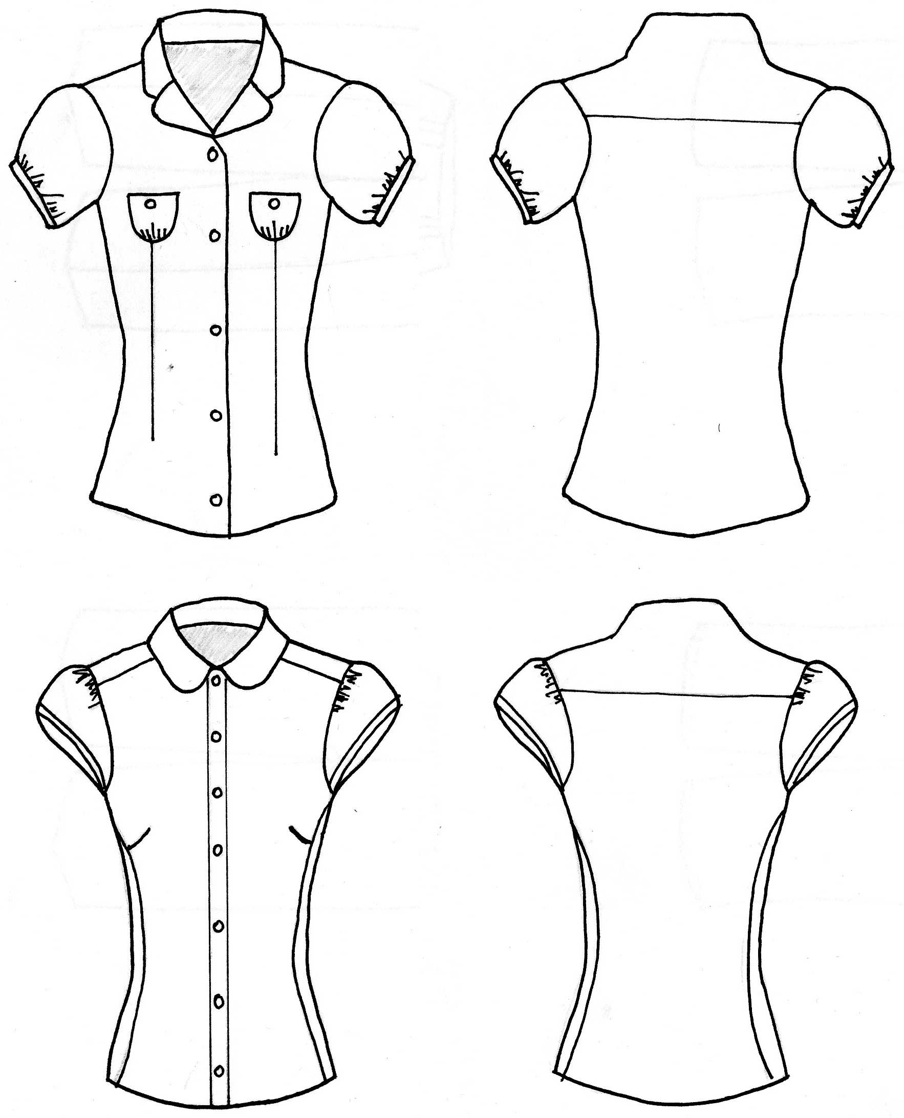 How To Draw A Ruffled Blouse 82