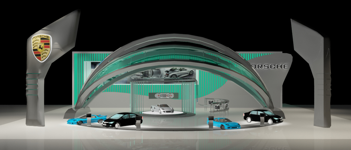 Car Exhibition Booth : Booth and exhibition design by vicky lim at coroflot