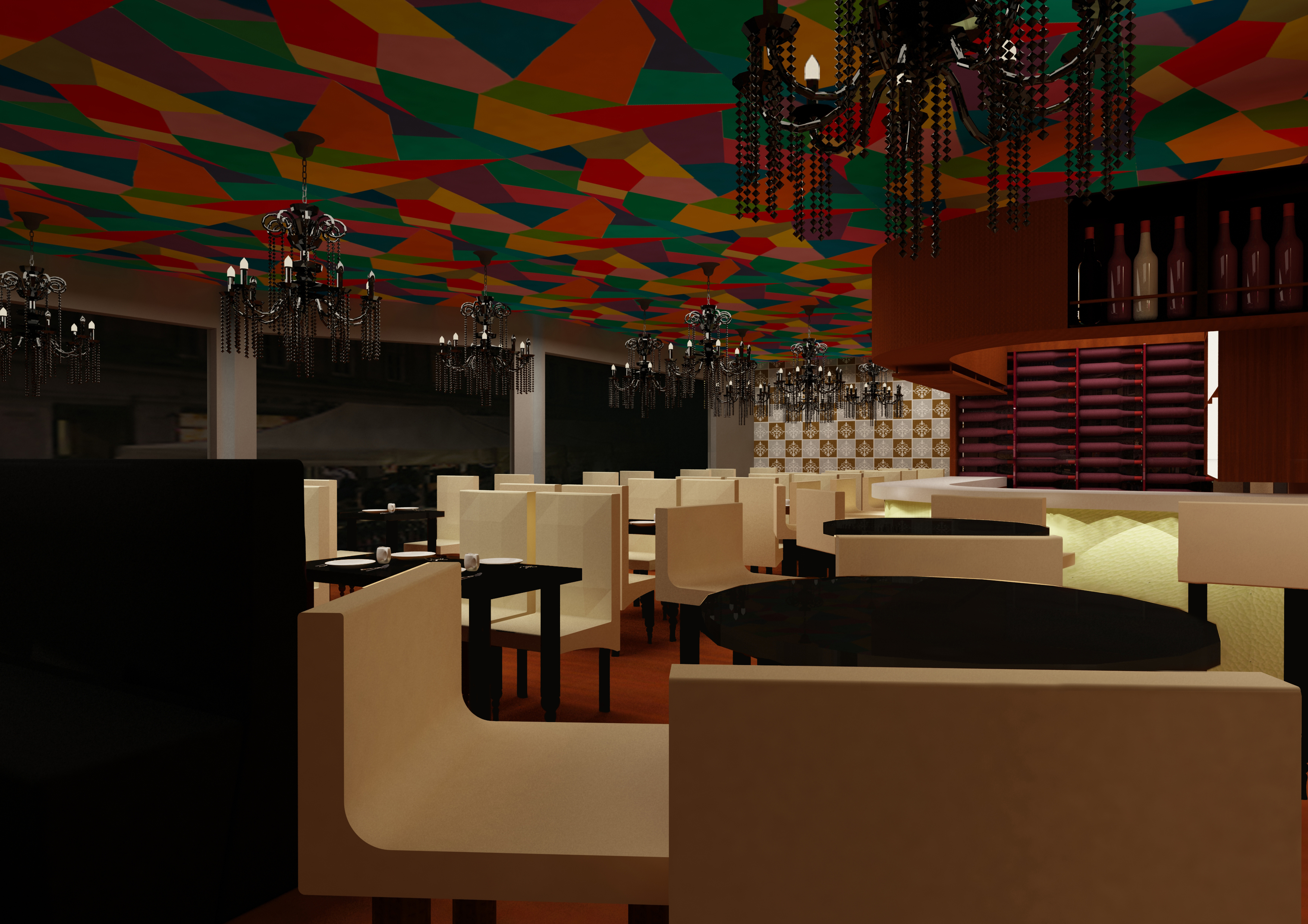 Restaurant design by vicky lim at for Restaurant design