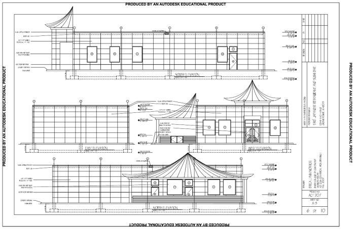 Japanese restaurant and sushi bar by erica nowicki for Japanese exterior design