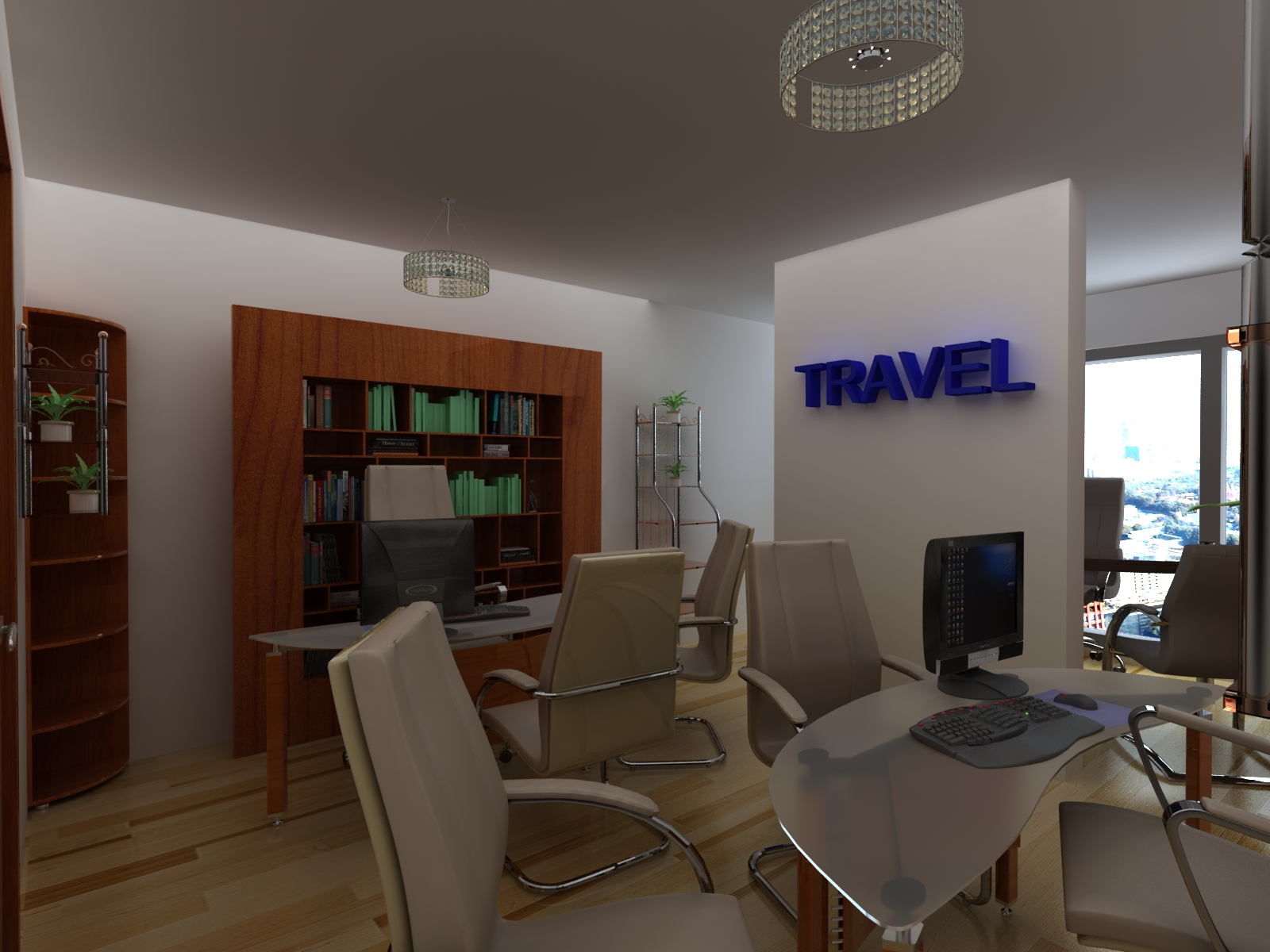 Travel Agency Interior Design Var 4