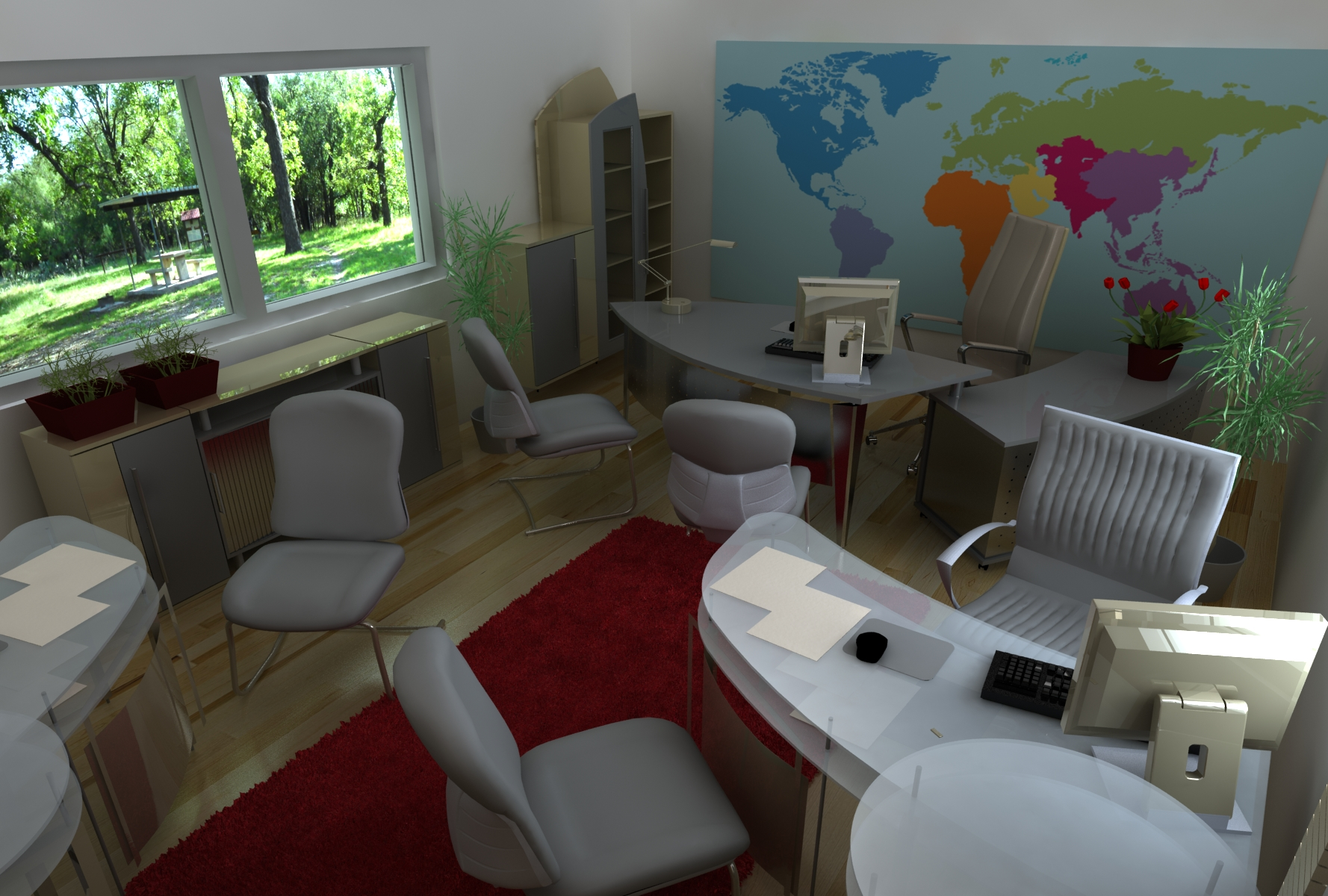 Travel Agency Interior Design Var 2 QView Full Size