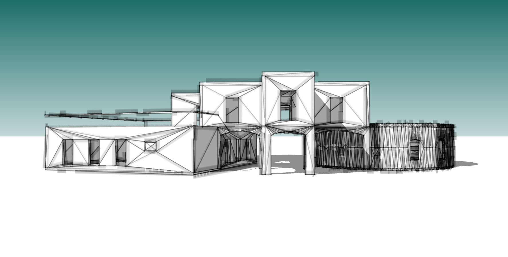 Design concept for beach house