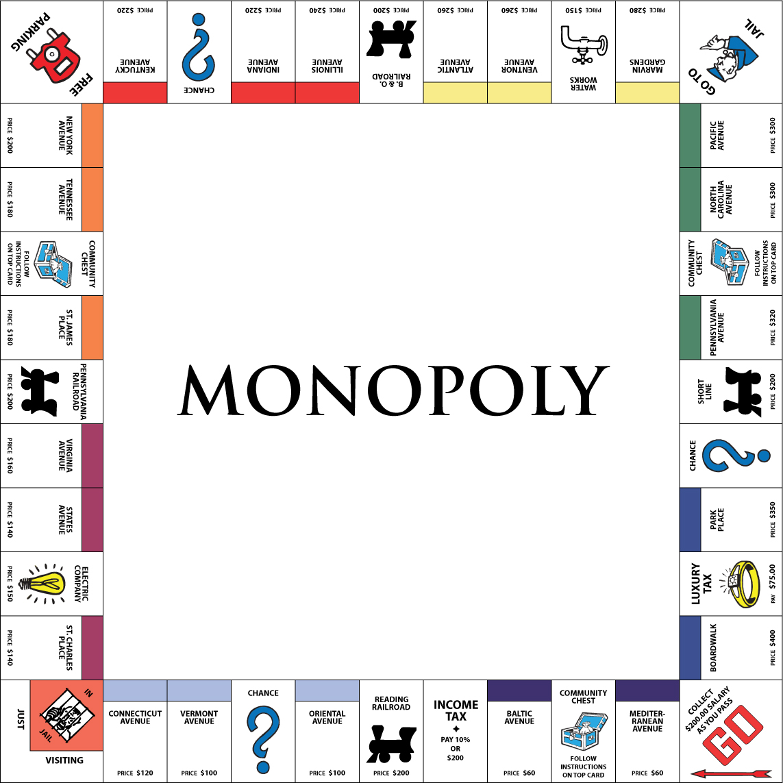 monopoly board vector free download awesome graphic library