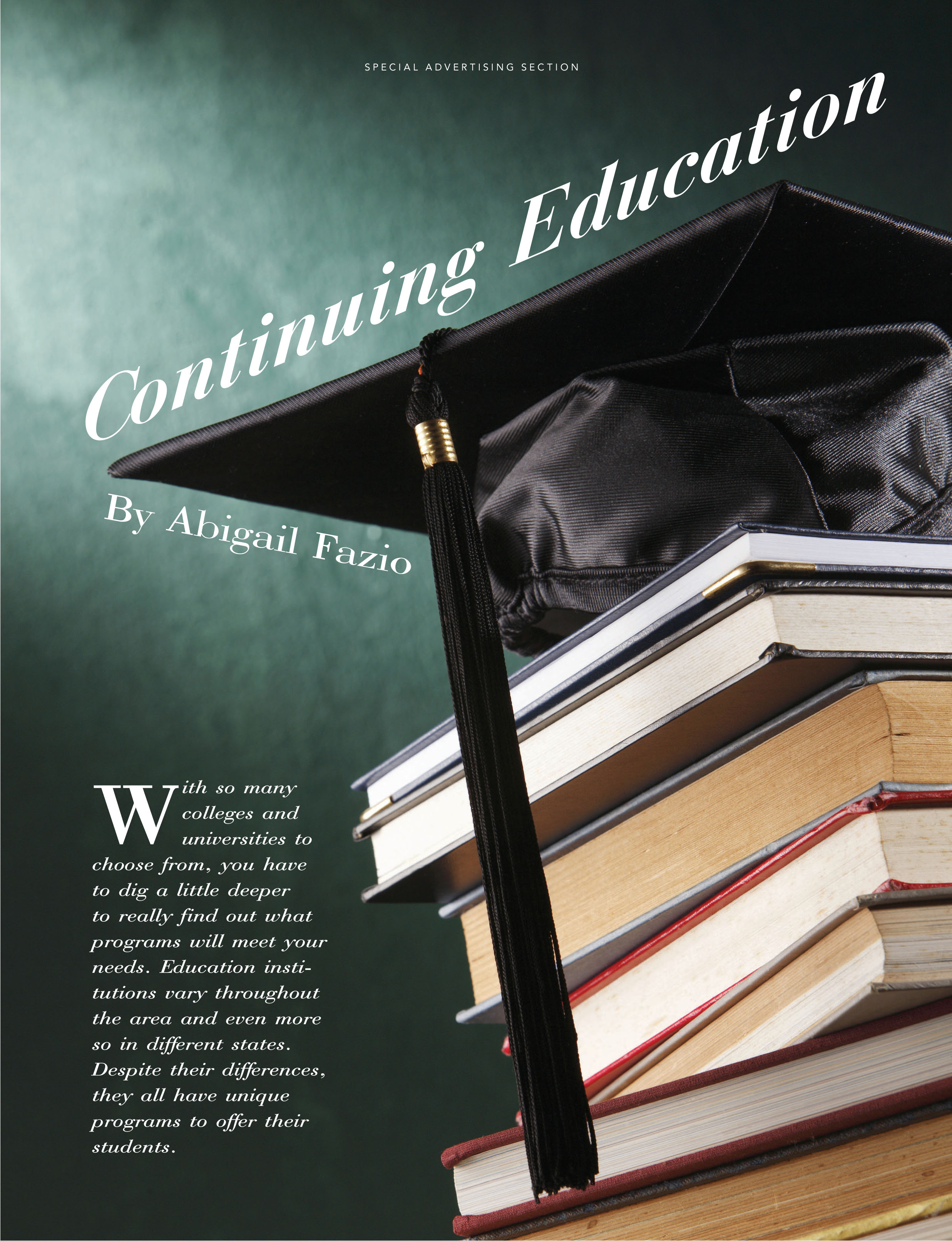Special Ad Continuing Education By Melissa Doody At
