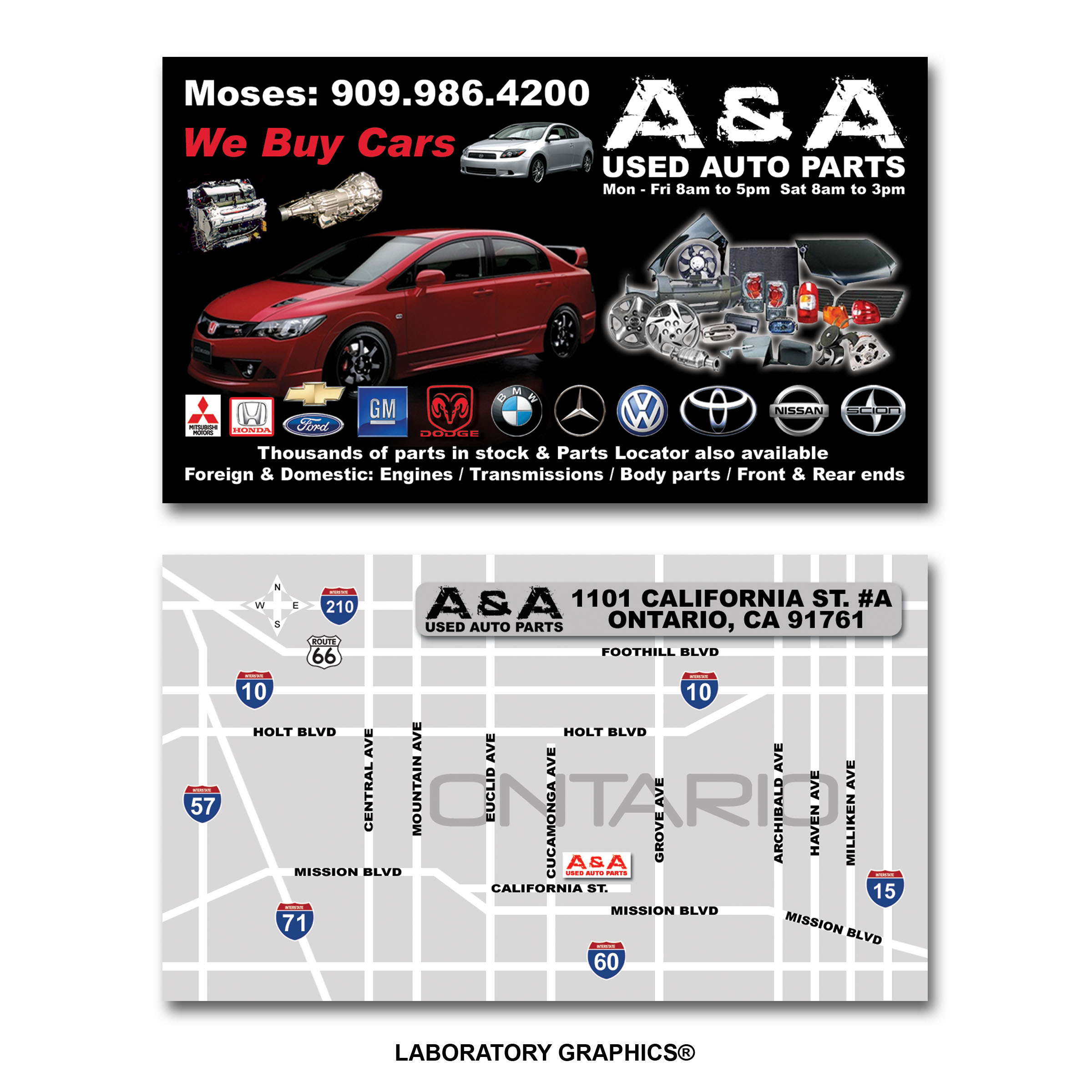Business cards by johnny mar at coroflotcom for Auto parts business cards