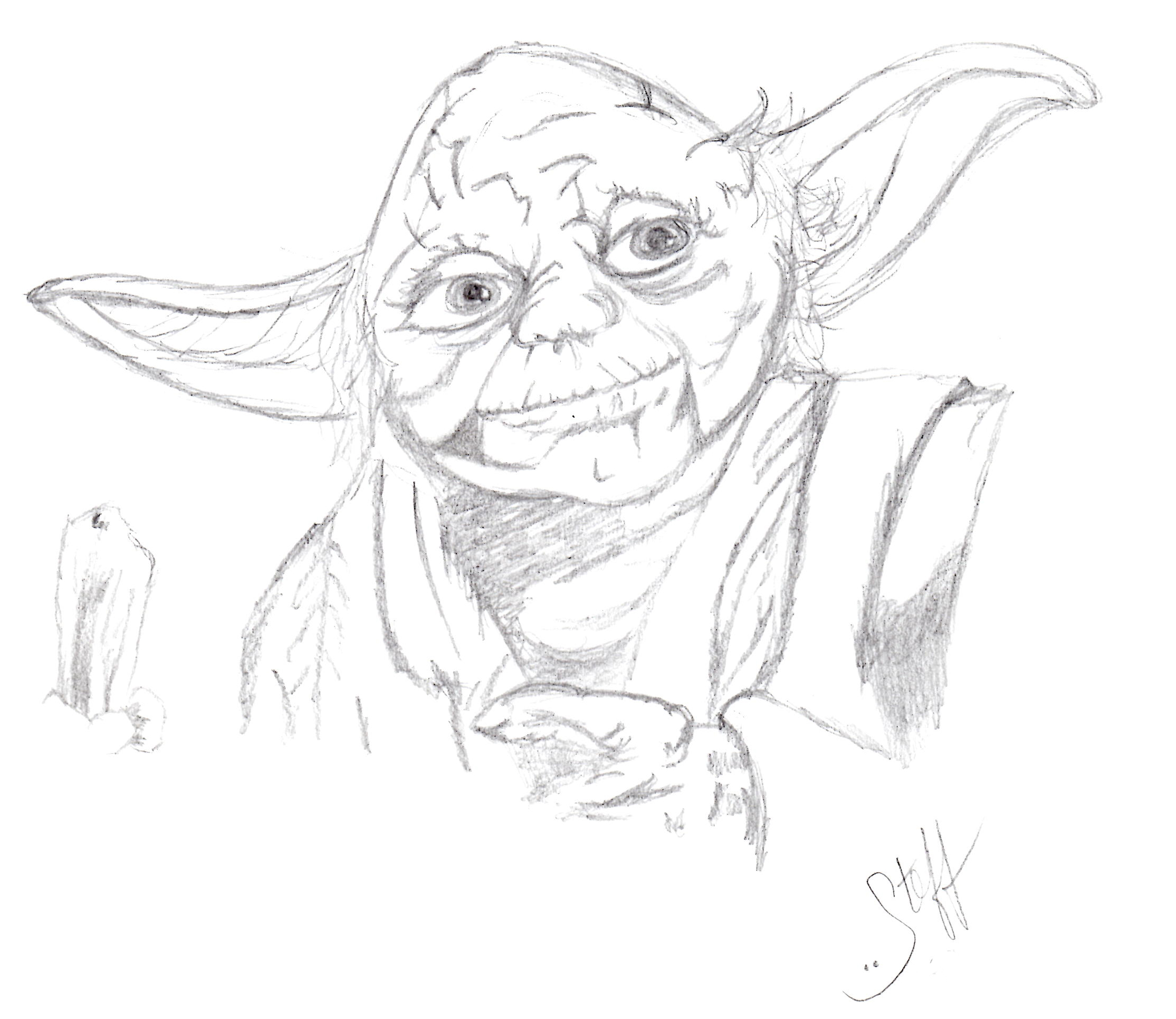 Yoda Face Drawing Yoda FaceYoda Face Drawing