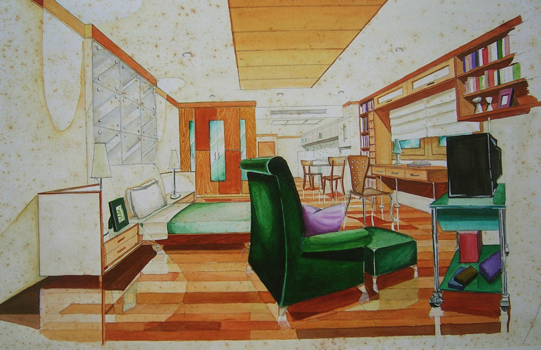 Awesome Sketch Perspective By Ekachai Lim At Coroflotcom