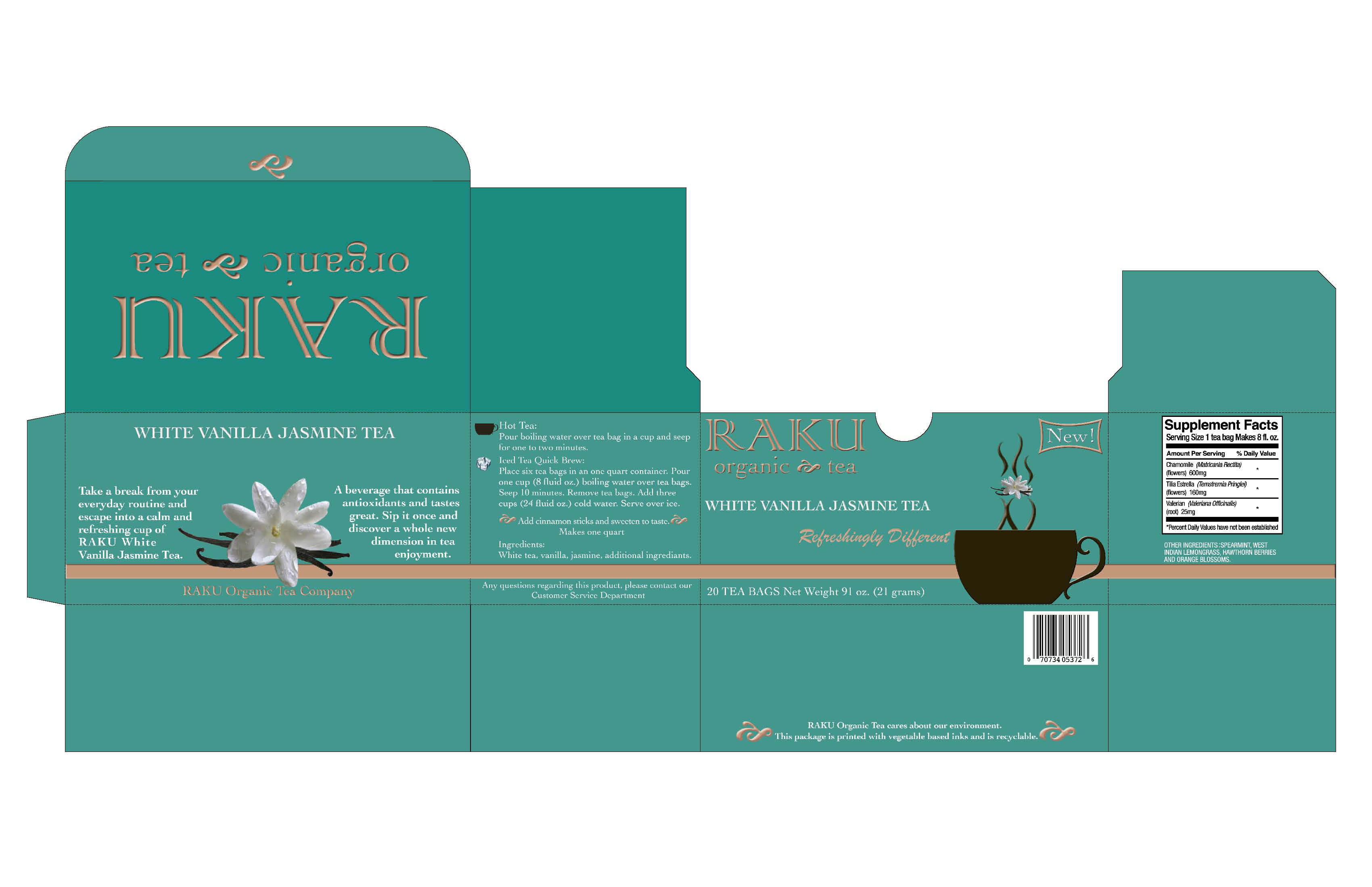RAKU Organic Tea Packaging Design by Patricia Caren at Coroflot.com