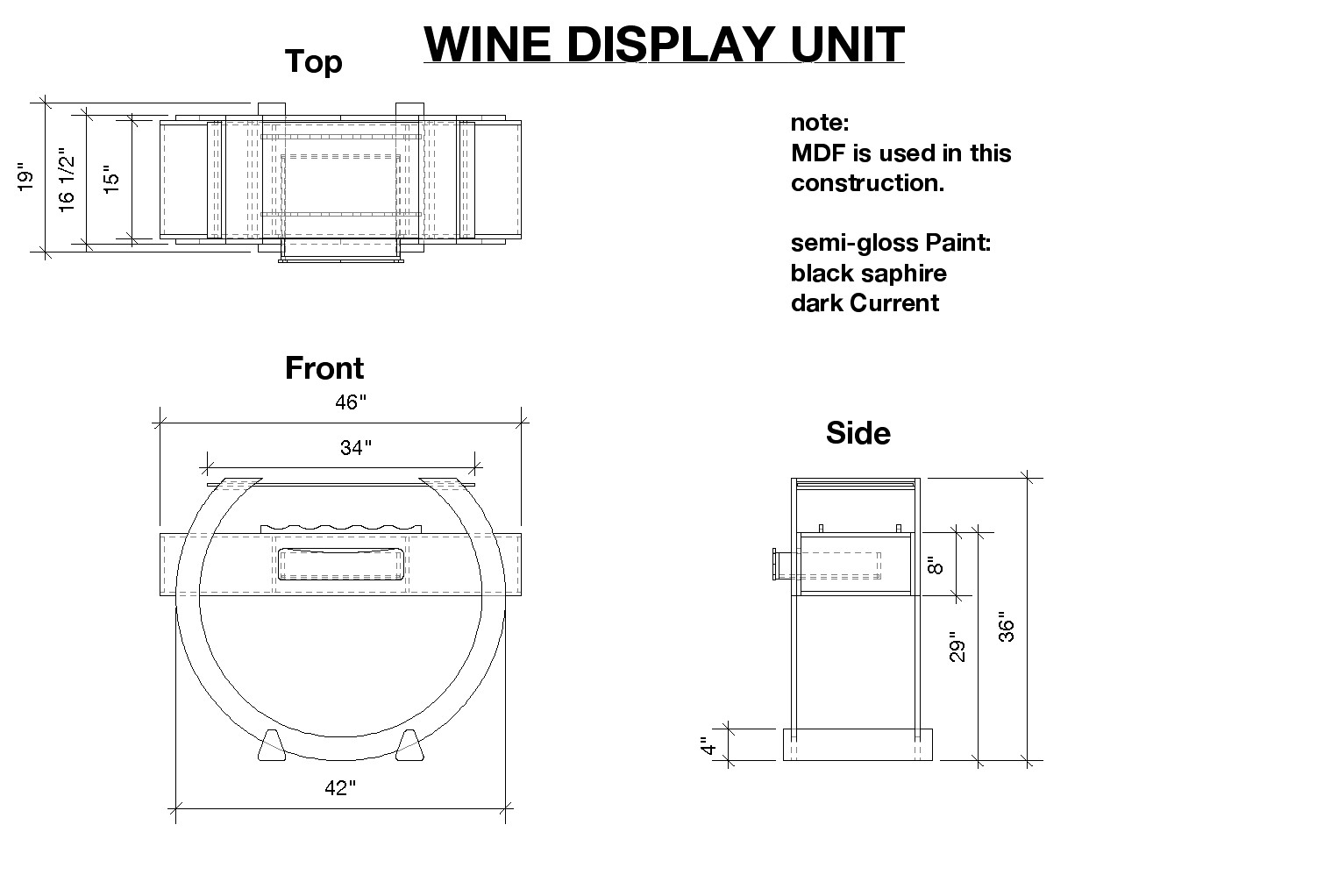 Furniture Working Drawings Working Drawings For The