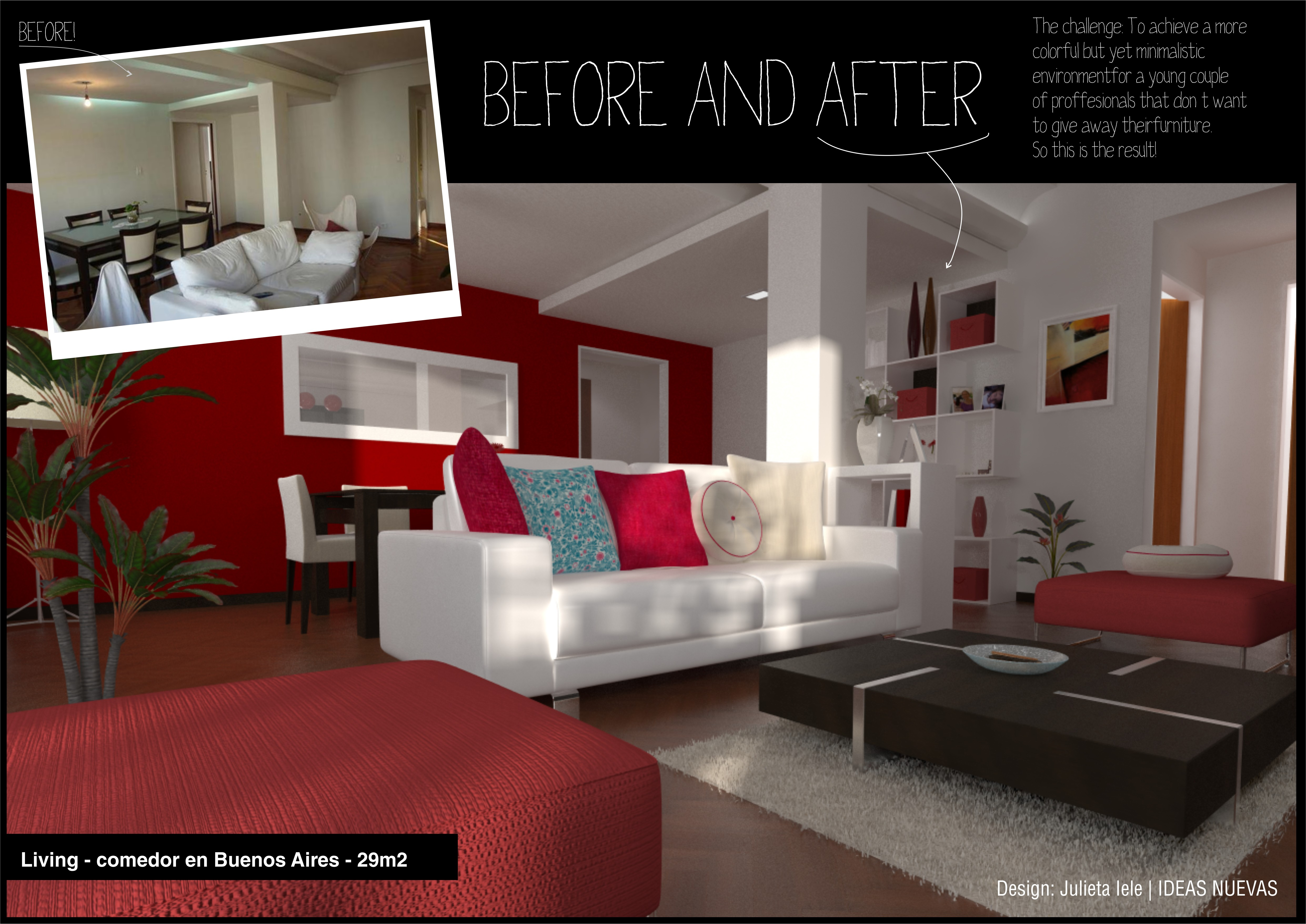 Interior design before and after by julieta iele at - What is interior design ...