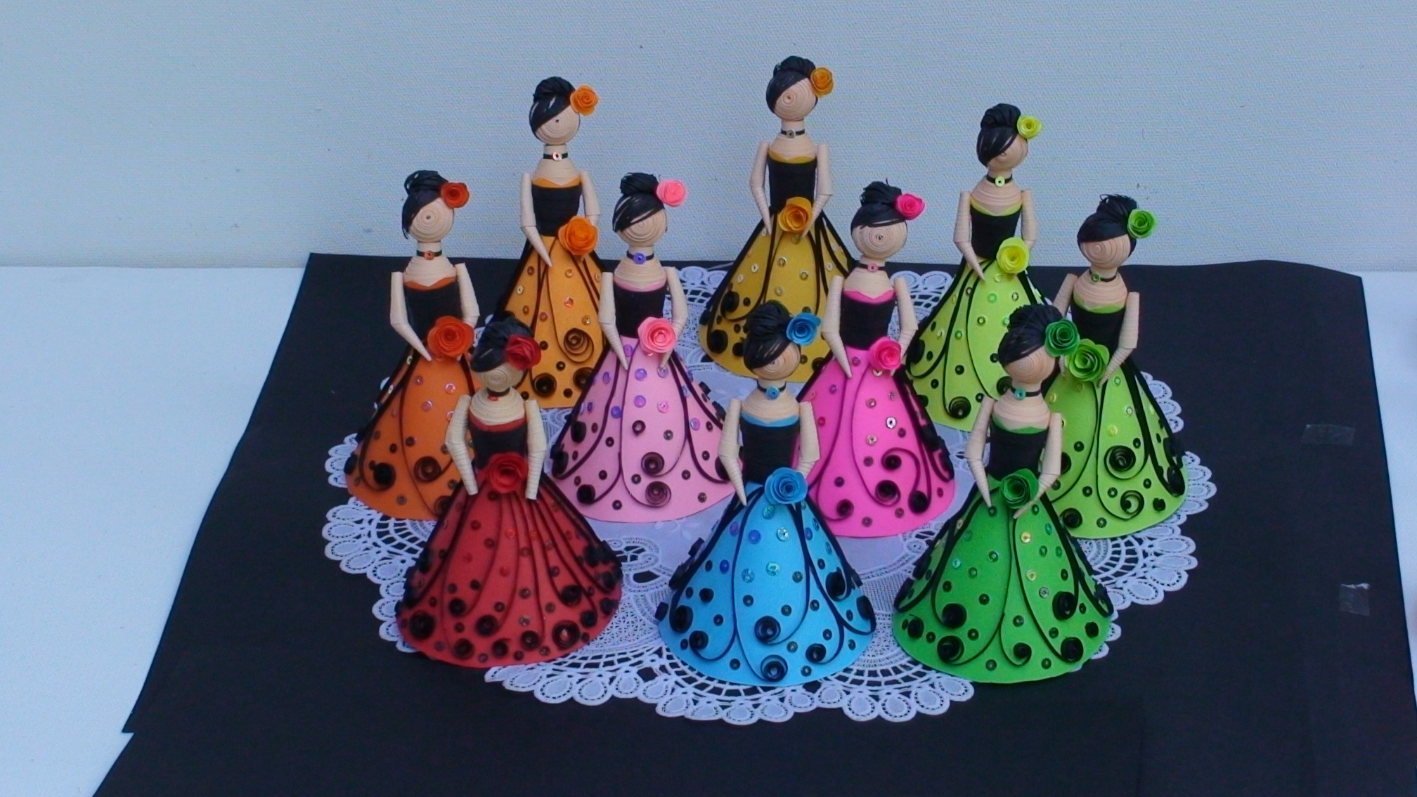 3D Paper Quilling Doll