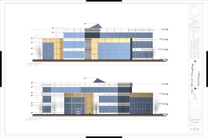 Front Elevation Design In Revit : Office building design by dan sample at coroflot