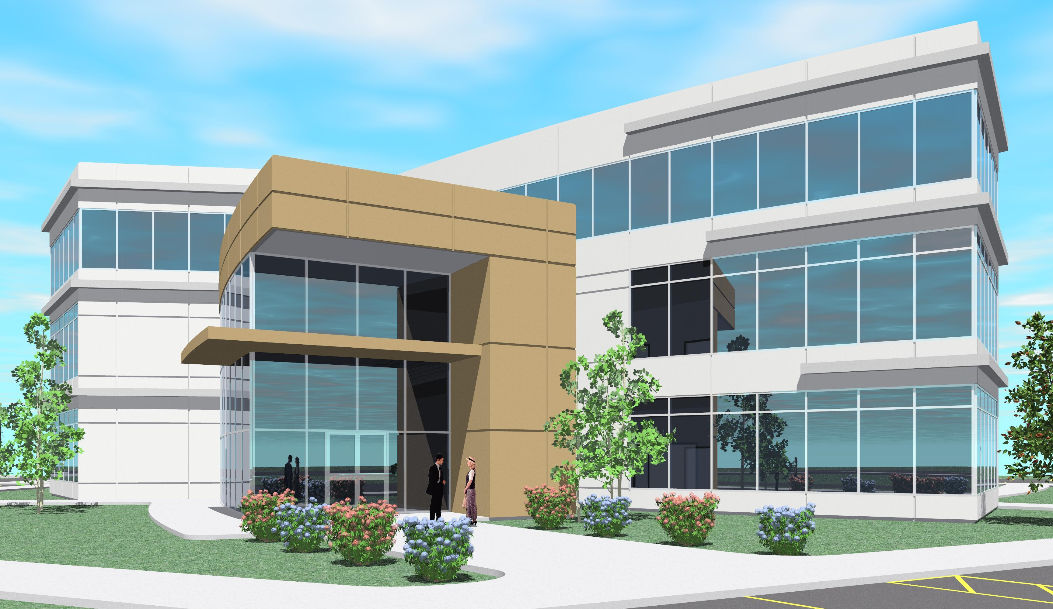 Contemporary two story office building elevations joy for Two story office building plans