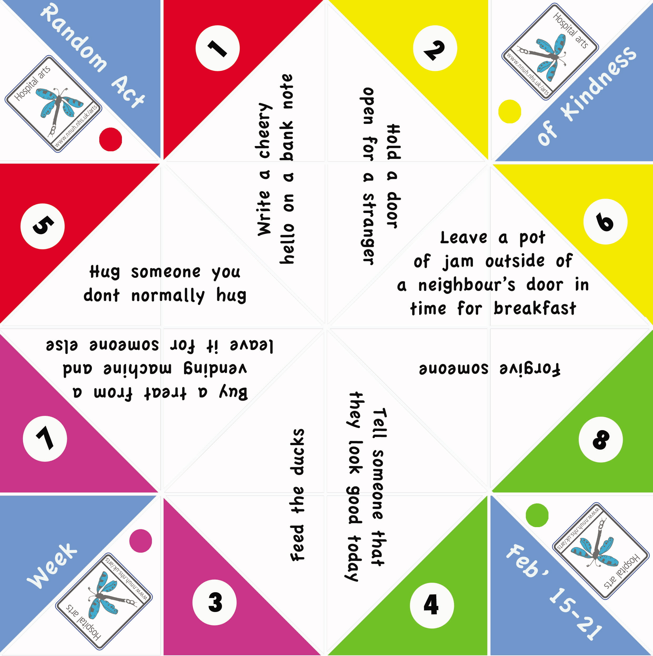 Hospital arts project by will williams at for How to make a chatterbox template