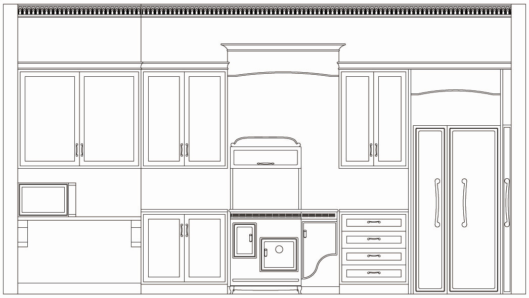 Kitchen elevation drawings in autocad joy studio design for Autocad kitchen cabinets