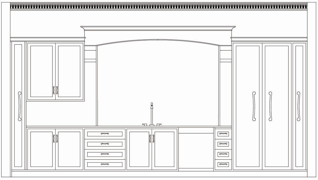 2d Cad Design Kitchen Word Design Architecture Design