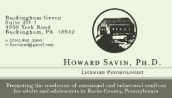 Business cards by kevin ditrapano at coroflot dr howard savin phd business card dr howard savin phd business card with appointment schedule colourmoves Gallery