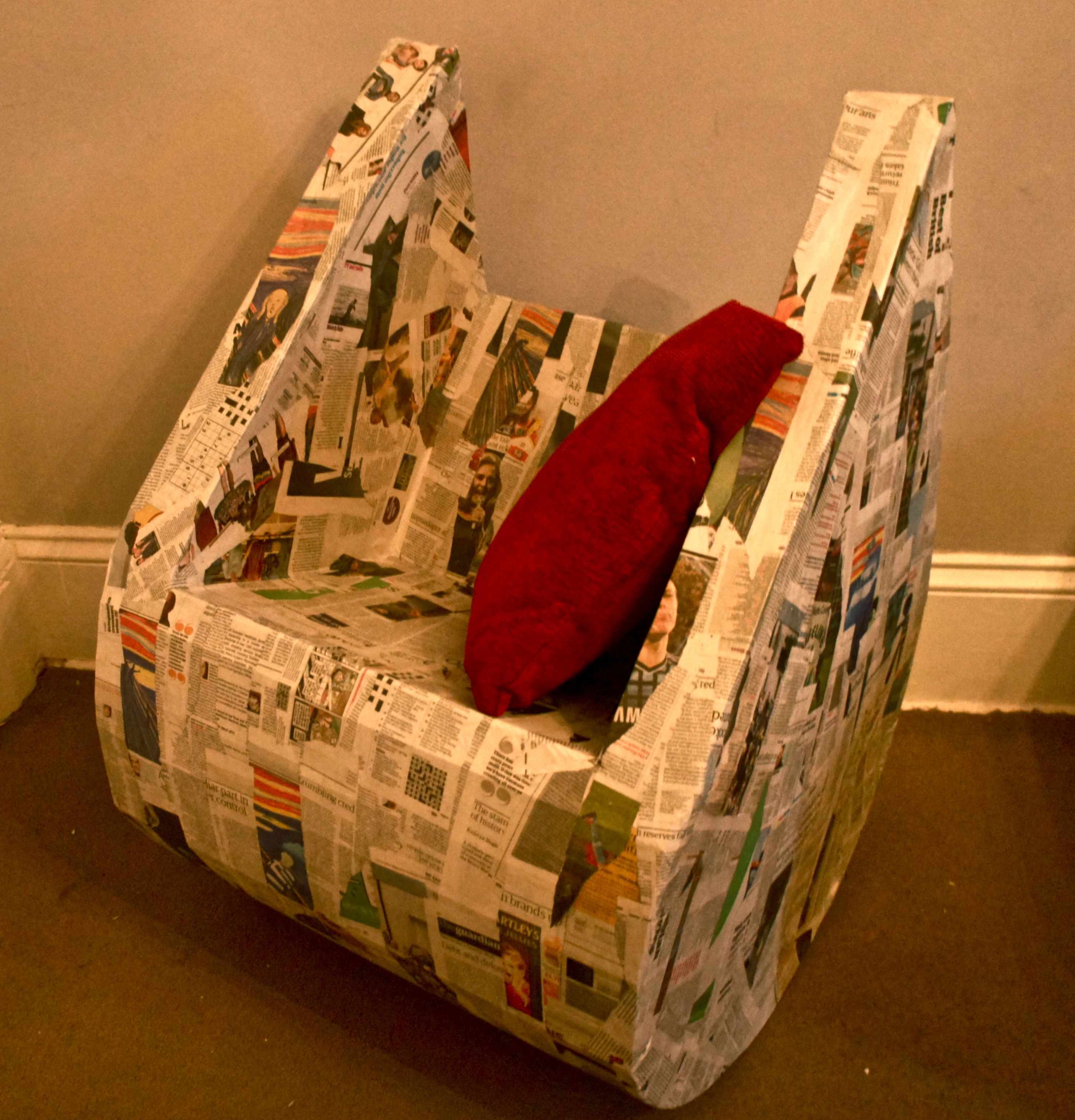 Cardboard rocking chair - Cardboard Chair Madeover