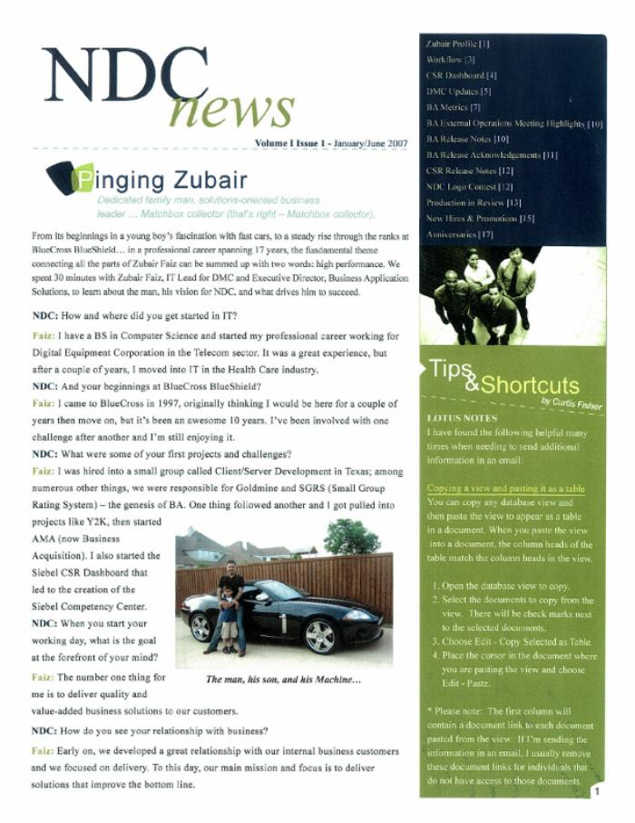 Blue Cross Blue Shield of Texas NDC Newsletter Example by Naeemah ...
