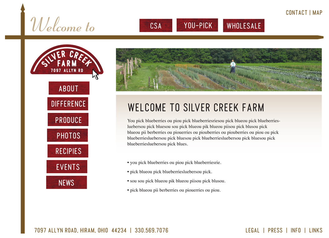 Web Design Samples by William Witwer at Coroflot.com