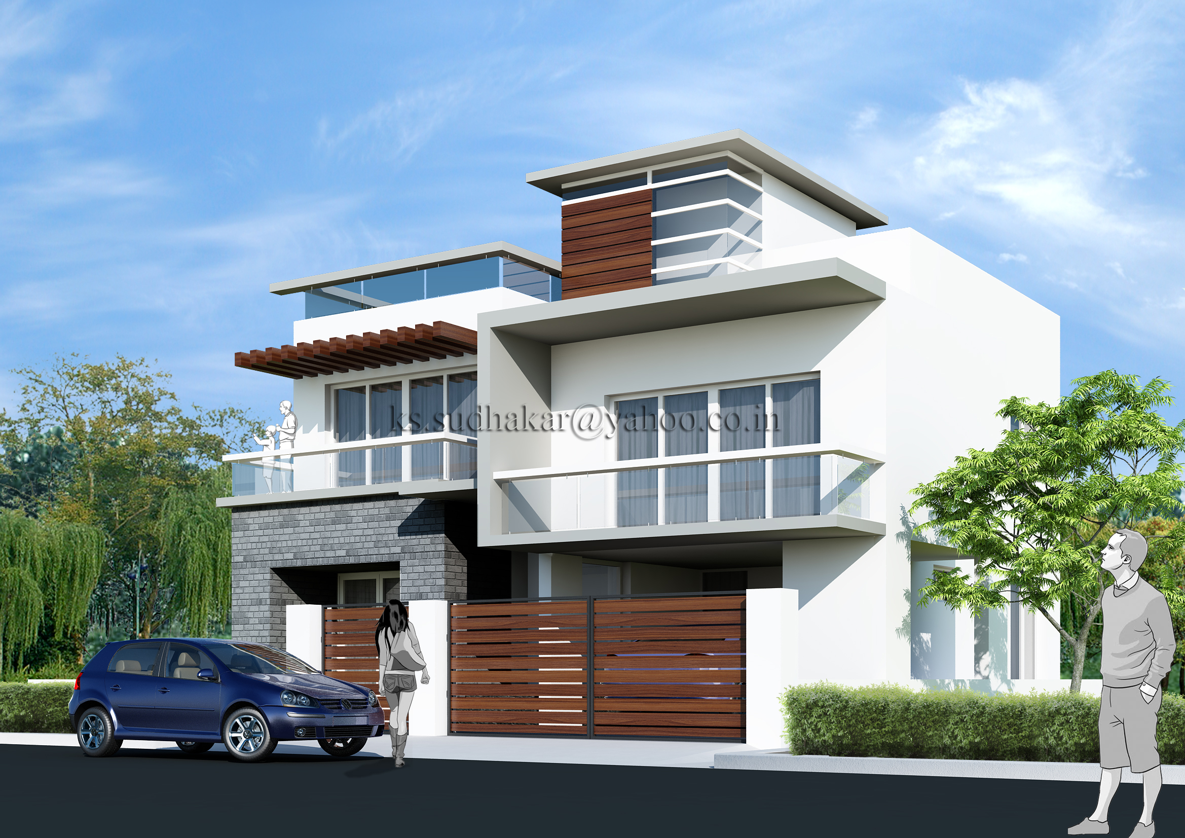 Residential Bungalow Part - 48: QView Full Size. Exterior Renderings - Residential Bungalow