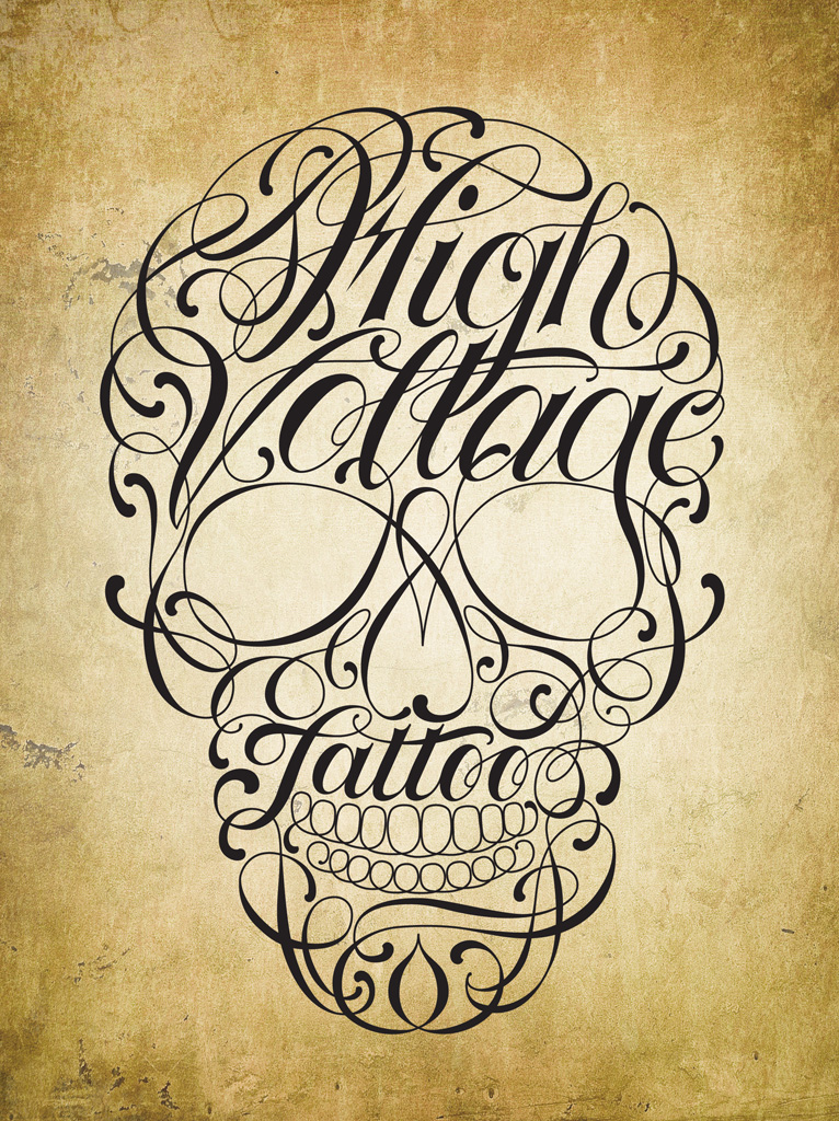 Hand lettering by robert chin at for Kat von d tattoos portfolio
