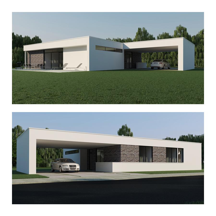 Exterior design by elena van gelder at for Low energy home designs