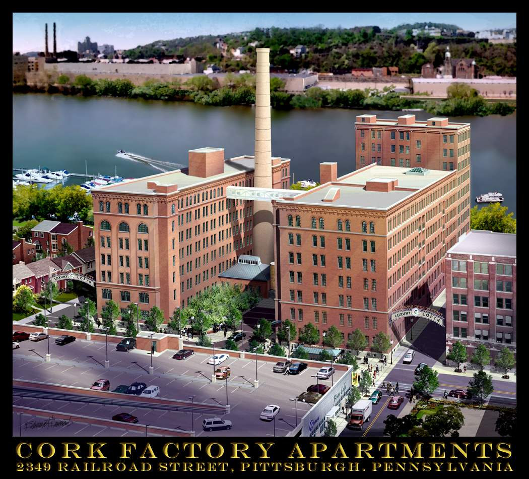 Pittsburgh Apartments: Cork Factory Apartments Pittsburgh PA Drawings By James