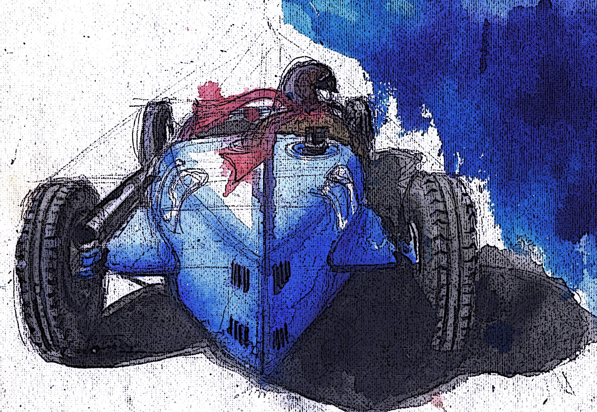 Bugatti Type 35, Watercolor