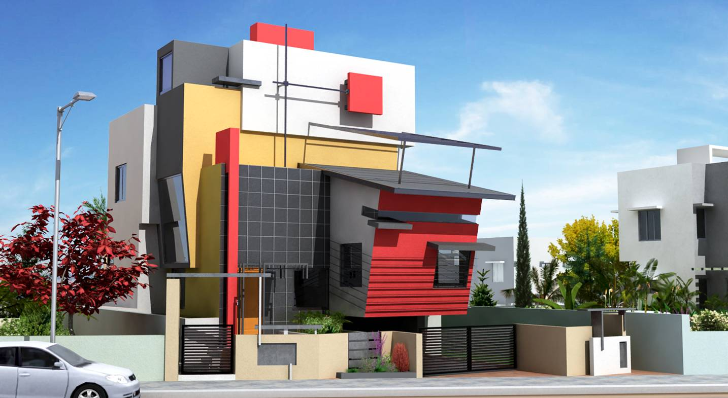 Front Elevation Designs For Small Houses In Bangalore : Architectural design modern home designs services