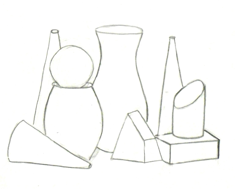 Contour Line Drawing Still Life : Drawing i by jordan randall at coroflot