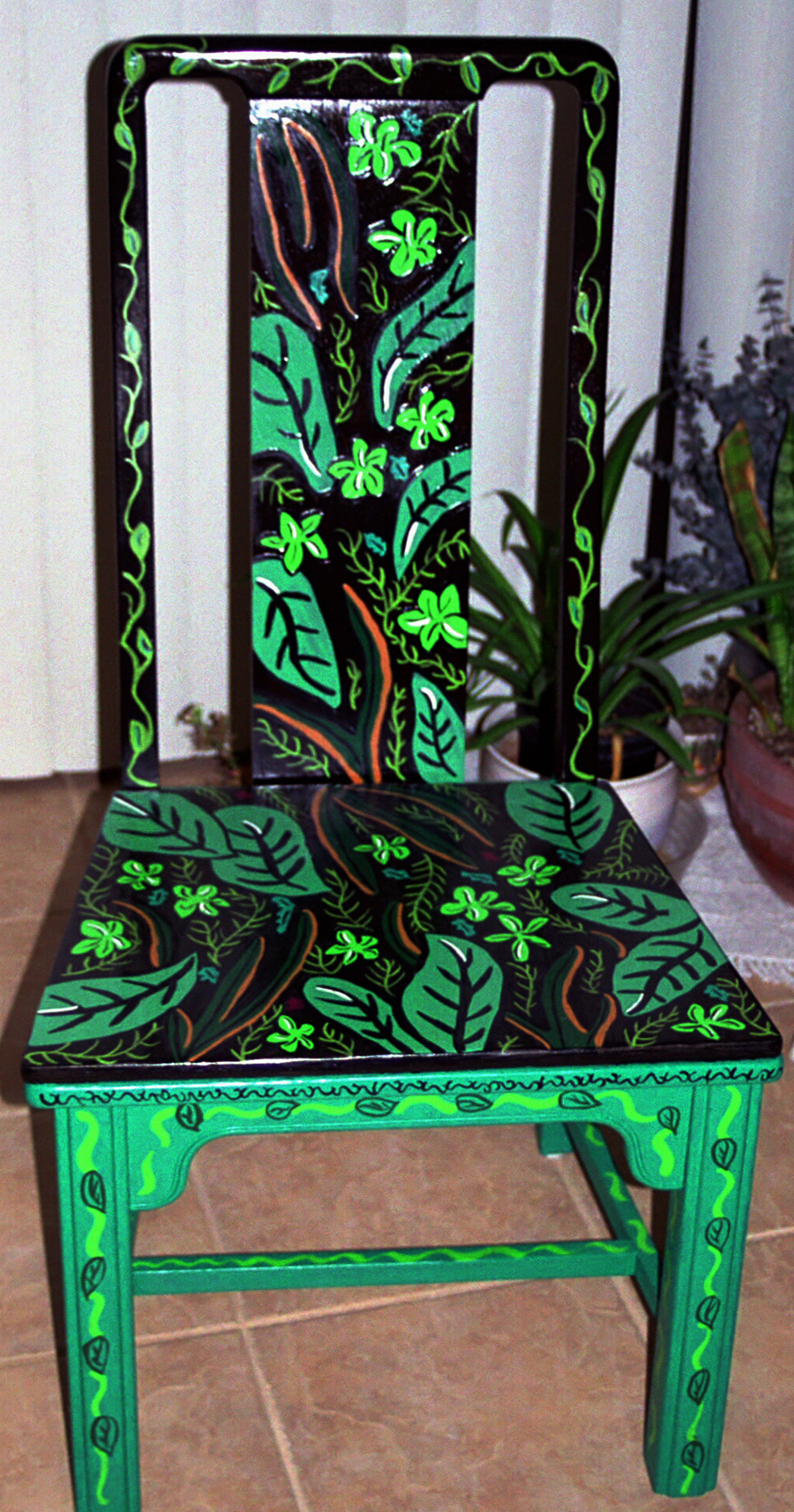 personal artwork painted chairs by carrie butler at