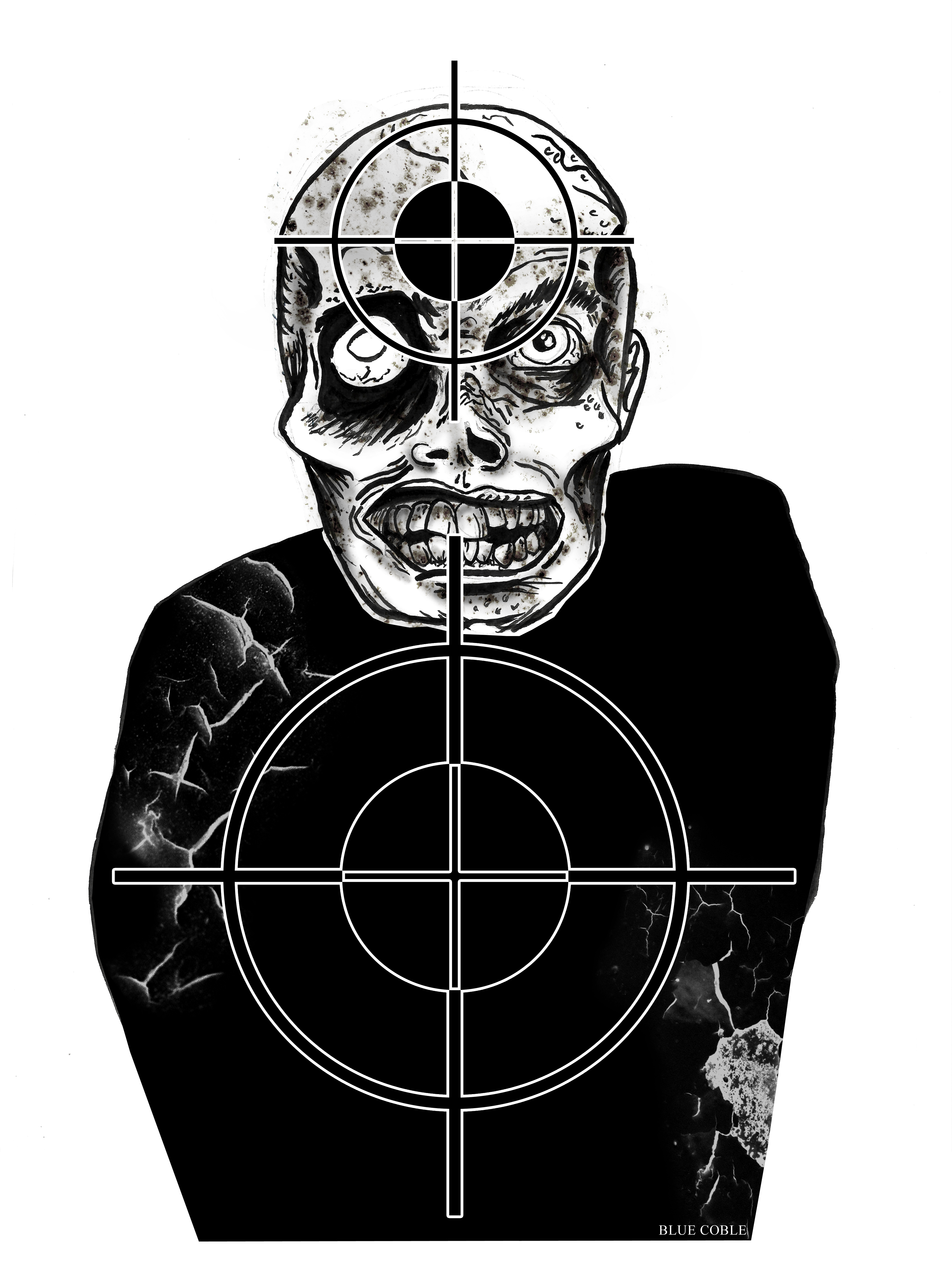 It is a picture of Critical Zombie Target Printable