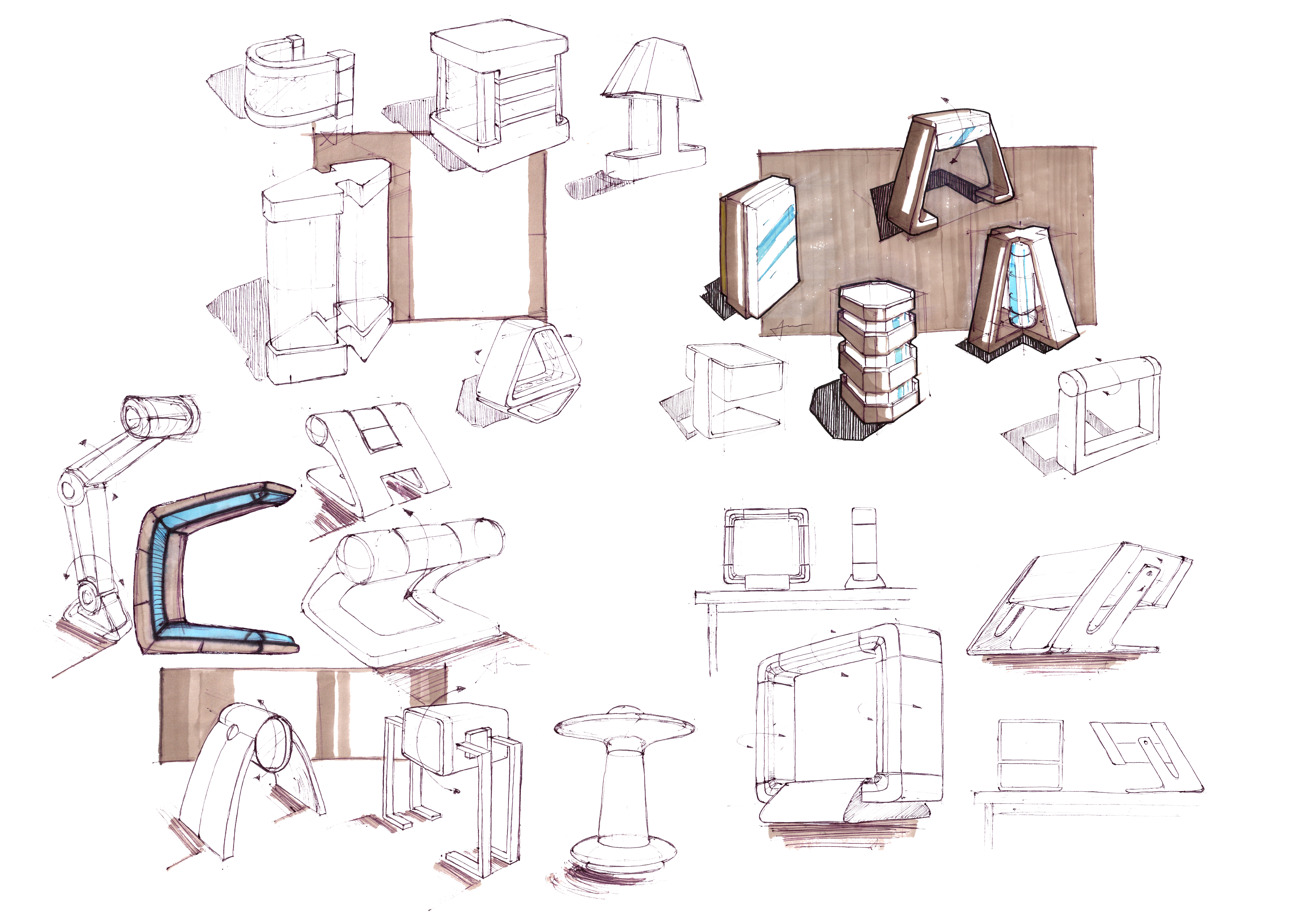 Concept sketches by al bernabe at for Table design sketch