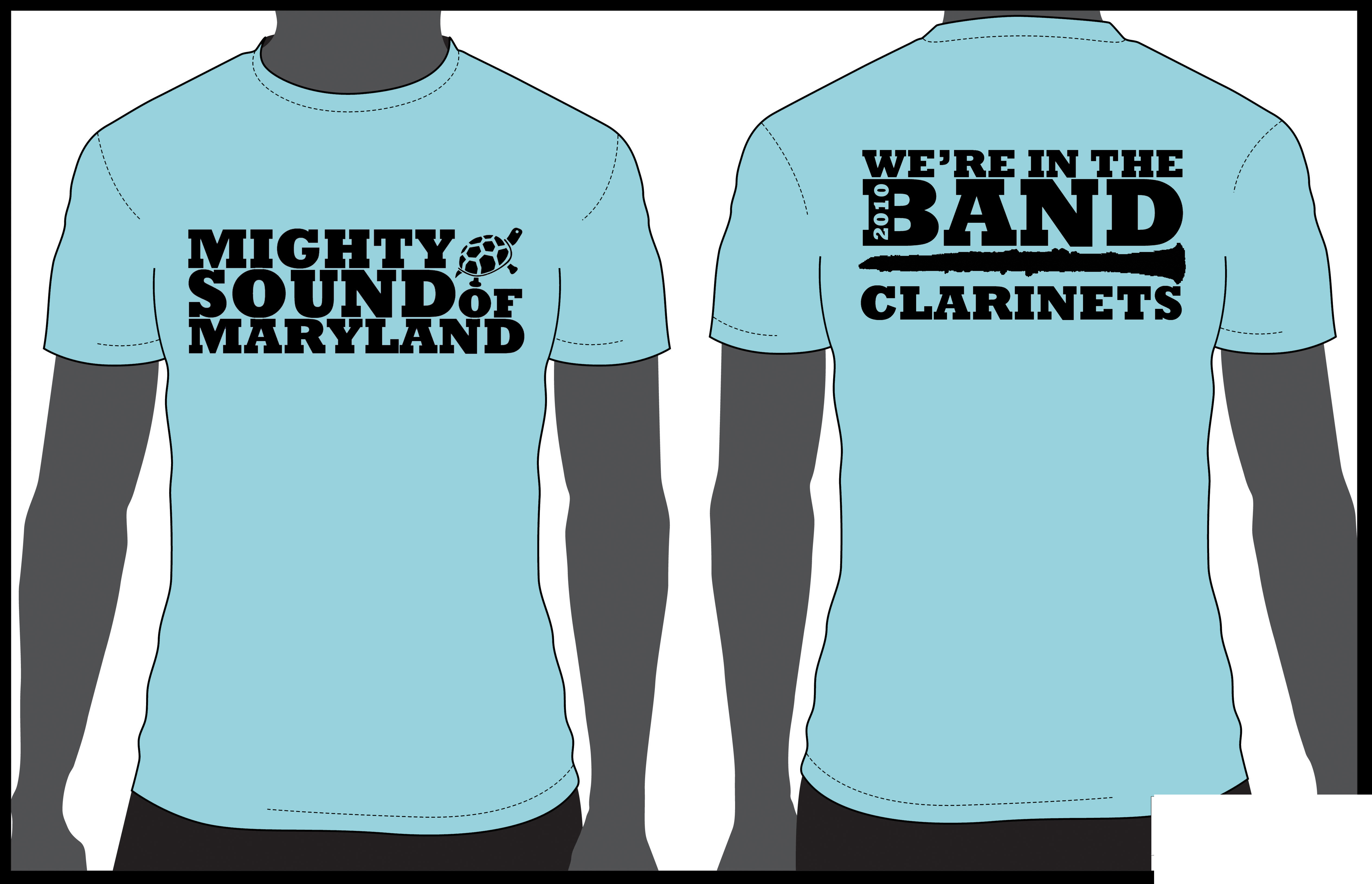 Design t shirt university - Clarinet Shirt T Shirt Design For The Clarinet Section Of The Mighty Sound Of Maryland At The University Of Maryland