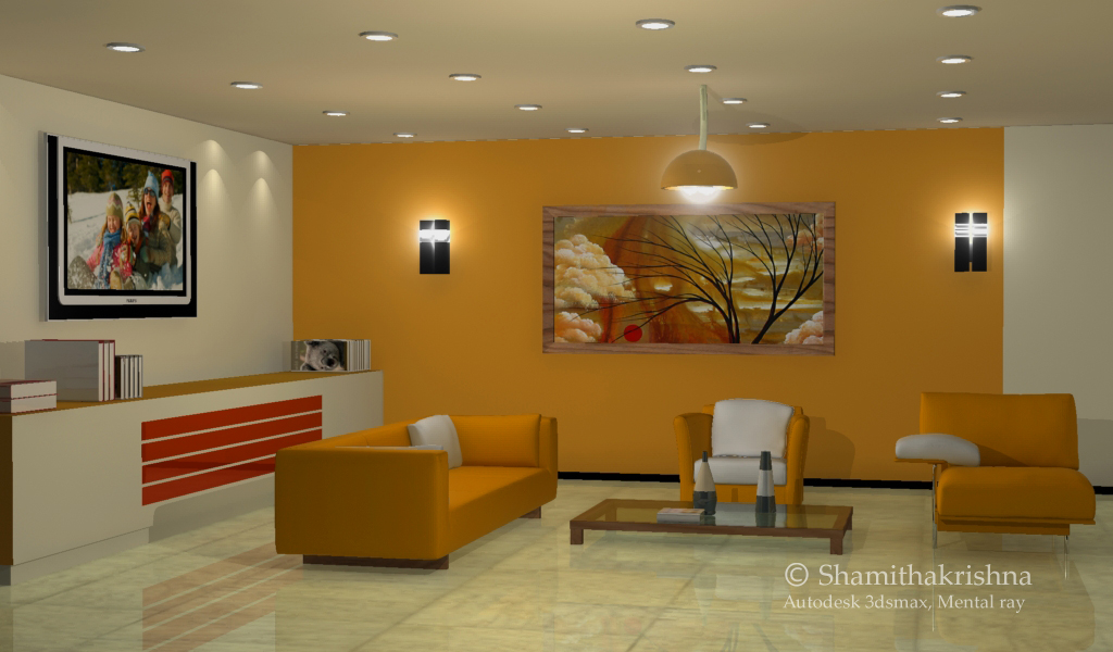 3d by shamitha krishnadas at for Living room 3ds max