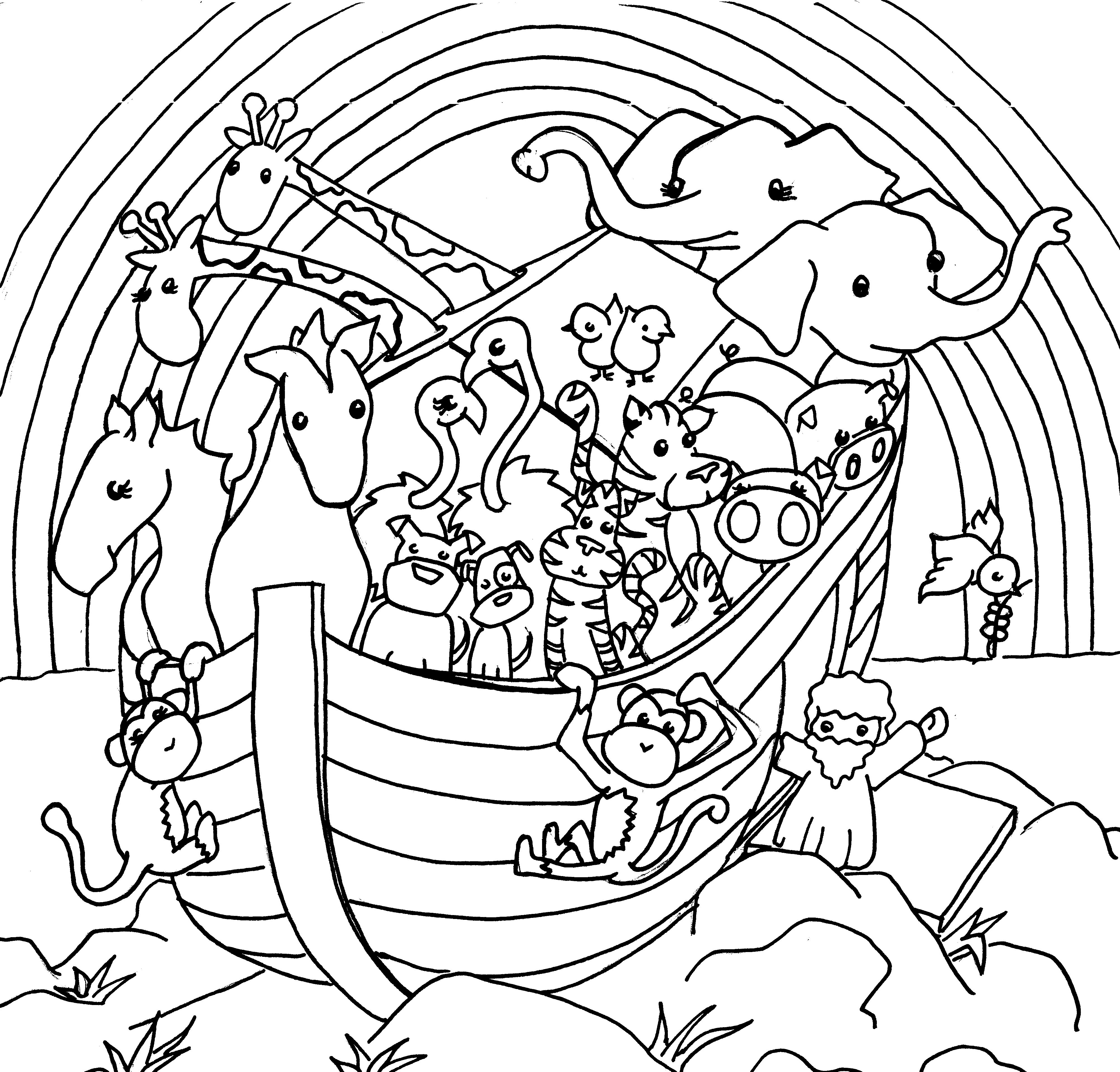 Children's coloring pages noah's ark - Coloring Pages Printable Noah S Ark 6