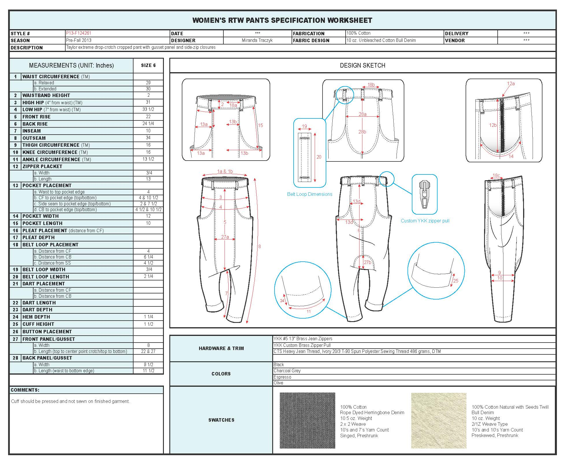 Fashion Cad 39 S Technical Design By Miranda Traczyk At